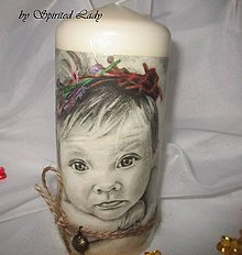 Svietidlá a sviečky - Sviečka Vintage Anjelik - 6566283_
