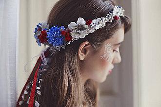 Ozdoby do vlasov - Kvetinový folkový venček \