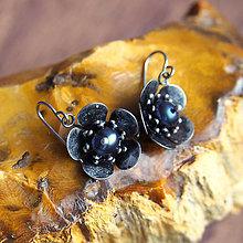 Náušnice - Náušnice Kvety s perlami 2 - 6568519_