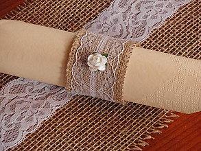 Úžitkový textil - Vintage držiaky na servítky - 6569391_