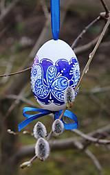 Dekorácie - Husacie vajíčka /vzor vtáčik - 6569452_