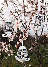 Dekorácie - Husacie vajíčka /vzor vtáčik - 6569454_