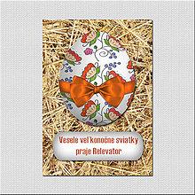 Papiernictvo - Realistic veľkonočná pohľadnica - veľkonočné vajíčko na slame - 6568137_