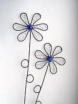 Dekorácie - zápich kvet modrý - 6570502_