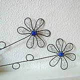 Dekorácie - zápich kvet modrý - 6570506_