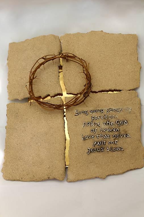 Kríž -  keramika/zlato