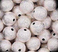Korálky - Kovový medzikus - gulička strieborná 6mm - 6570205_