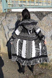 Svetre/Pulóvre - svetrokabat black&white 8 - 6572192_