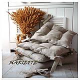 Úžitkový textil - Lněné podsedáčky na židli...vel.38x38cm - 6570648_