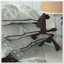 Úžitkový textil - Lněné podsedáčky na židli...vel.38x38cm - 6570351_