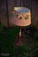 Svietidlá a sviečky - Ružová záhrada - stolová lampa - 6570654_