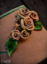 Svietidlá a sviečky - Ružová záhrada - stolová lampa - 6570655_