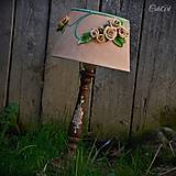 Svietidlá a sviečky - Ružová záhrada - stolová lampa - 6570656_