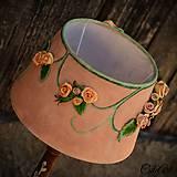 Svietidlá a sviečky - Ružová záhrada - stolová lampa - 6570661_