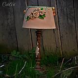 Svietidlá a sviečky - Ružová záhrada - stolová lampa - 6570679_
