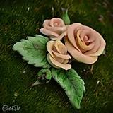 Ozdoby do vlasov - Spona do vlasov pre družičku - ruže I. - 6571040_