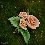 Spona do vlasov pre družičku - ruže I.