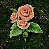 Ozdoby do vlasov - Spona do vlasov pre družičku - ruže I. - 6571042_
