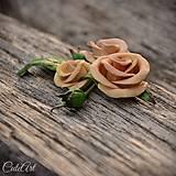 Spona do vlasov pre družičku - ruže II.
