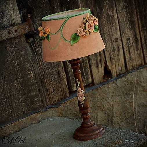 Ružová záhrada - stolová lampa
