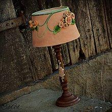 Svietidlá a sviečky - Ružová záhrada - stolová lampa - 6570659_