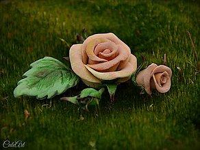Ozdoby do vlasov - Spona do vlasov pre družičku - ruže - 6570965_