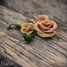 Ozdoby do vlasov - Spona do vlasov pre družičku - ruže II. - 6571072_