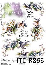 - ryžový papier fialové kvety - 6570945_