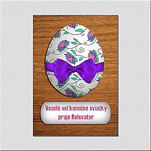 Papiernictvo - Realistic veľkonočná pohľadnica - veľkonočné vajíčko drevo - 6570059_