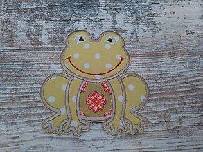 Materiál ručne robený - žabka ( nášivka) - 6575793_
