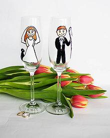 Nádoby - Svadobné poháre - 6574139_
