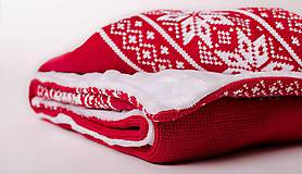 "Textil - Detská deka, ""Folk"", OEKO-TEX® - Červená, 80x100 - 6574343_"