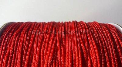 Galantéria - Shamballa šnúrka nylonová 1,5 mm - červená - 6575319_