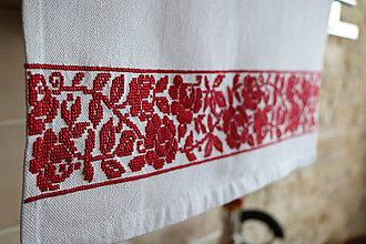 Úžitkový textil - Záves vyšívaný - 6574694_