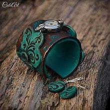 Sady šperkov - Vintage Love - sada hodiniek a náušníc - 6574990_