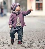 """Detské oblečenie - Turky """" 3 trojúhelníčky"""" šedé - 6574969_"""