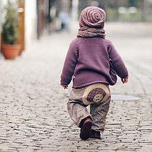 Detské oblečenie - Kytičkové s motýly - 6572762_