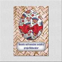 Papiernictvo - Realistic veľkonočná pohľadnica - veľkonočné vajíčko pletený podklad - 6574689_