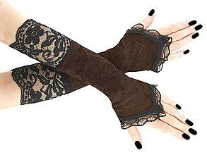 Rukavice - Dámské rukavice s čipkou  1175-02 - 6577036_