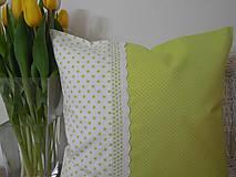 Úžitkový textil - vankúš so širokou krajkou - 6576767_