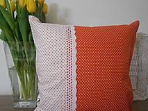Úžitkový textil - vankúš so širokou krajkou - 6576840_