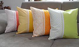 Úžitkový textil - vankúš so širokou krajkou - 6576844_