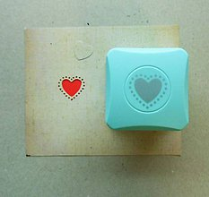 Pomôcky/Nástroje - Magnetická dierovačka na papier - srdce, srdiečko, láska - 6576260_