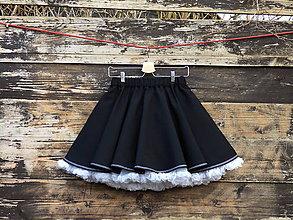 Sukne - FuFu sukně s lemem a s bílou spodničkou - 6578605_