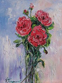 Obrazy - Korálové ruže - 6578023_
