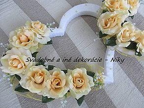 Dekorácie - Srdcia za novomanželov - 6577418_