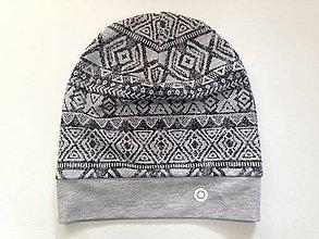 Detské čiapky - čiapka vzor aztek - 6576277_