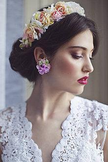 """Náušnice - výpredaj z 13 eur Kvetinové klipsne do uší """"nevesta z jarnej lúky"""" - 6578369_"""