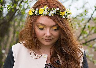 Ozdoby do vlasov - Kvetinový jarný polvenček \