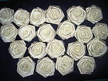 Drobnosti - Saténové ruže so zicherkou - 6577286_